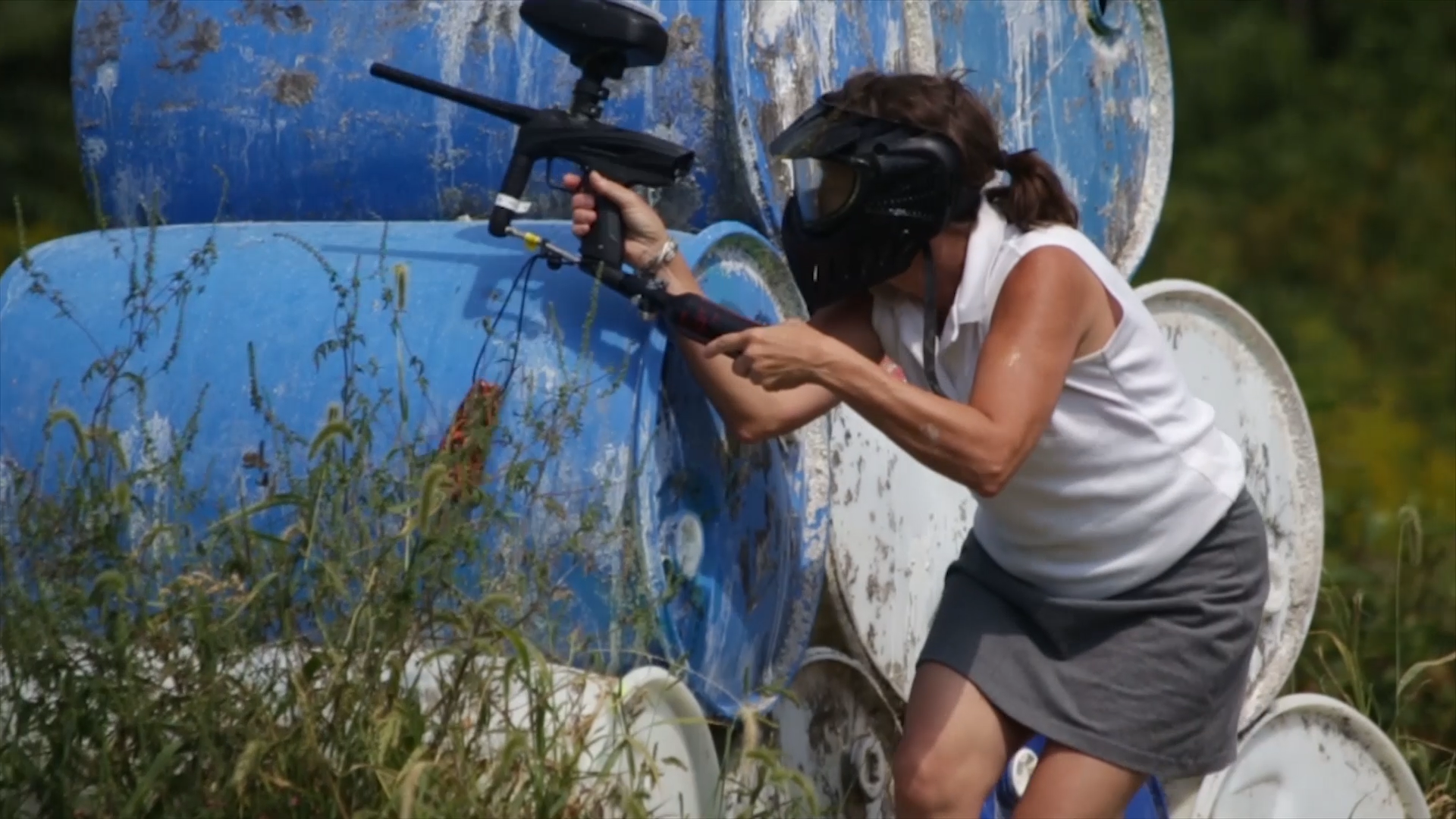 Mom Playing Paintball